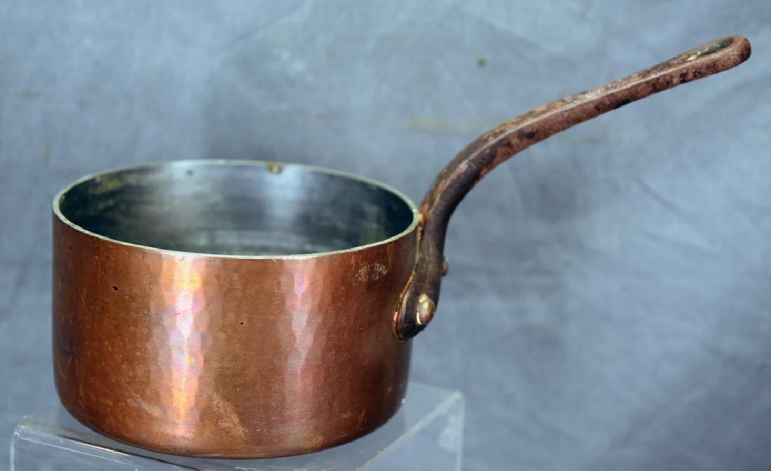 Vintage Dehillerin Hammered Copper Sauce Pan