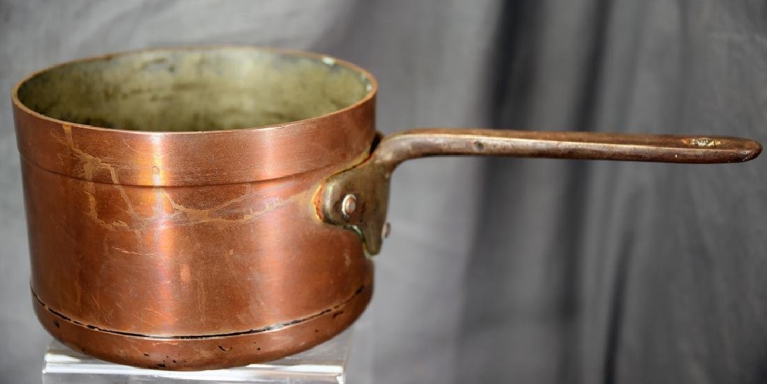 Vintage Heavy Copper Reinforced Sauce Pan
