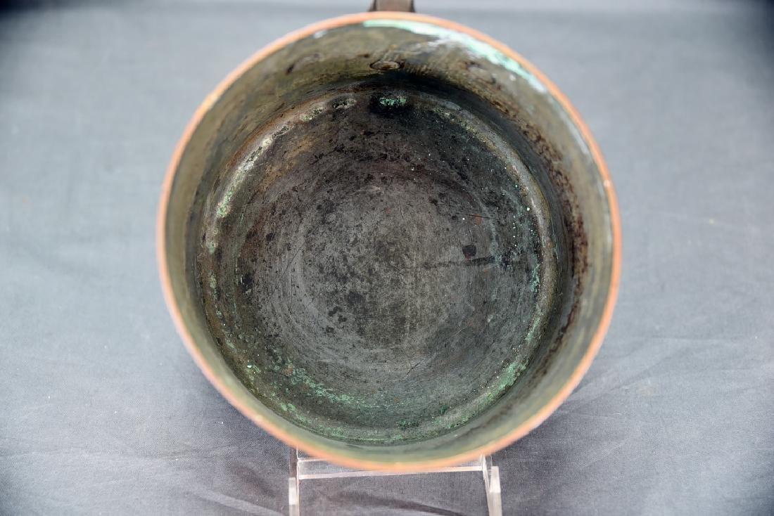 Vintage Heavy Copper Reinforced Sauce Pan - 5