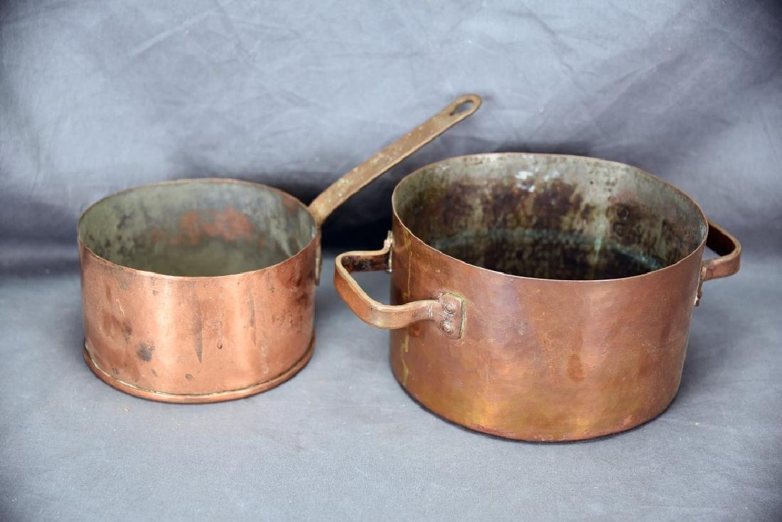 Vintage Dovetailed Hammered Stock Pot, Sauce Pan
