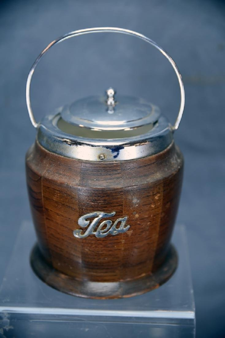 English Copper Tea Kettle and A Wooden Tea Caddy - 6