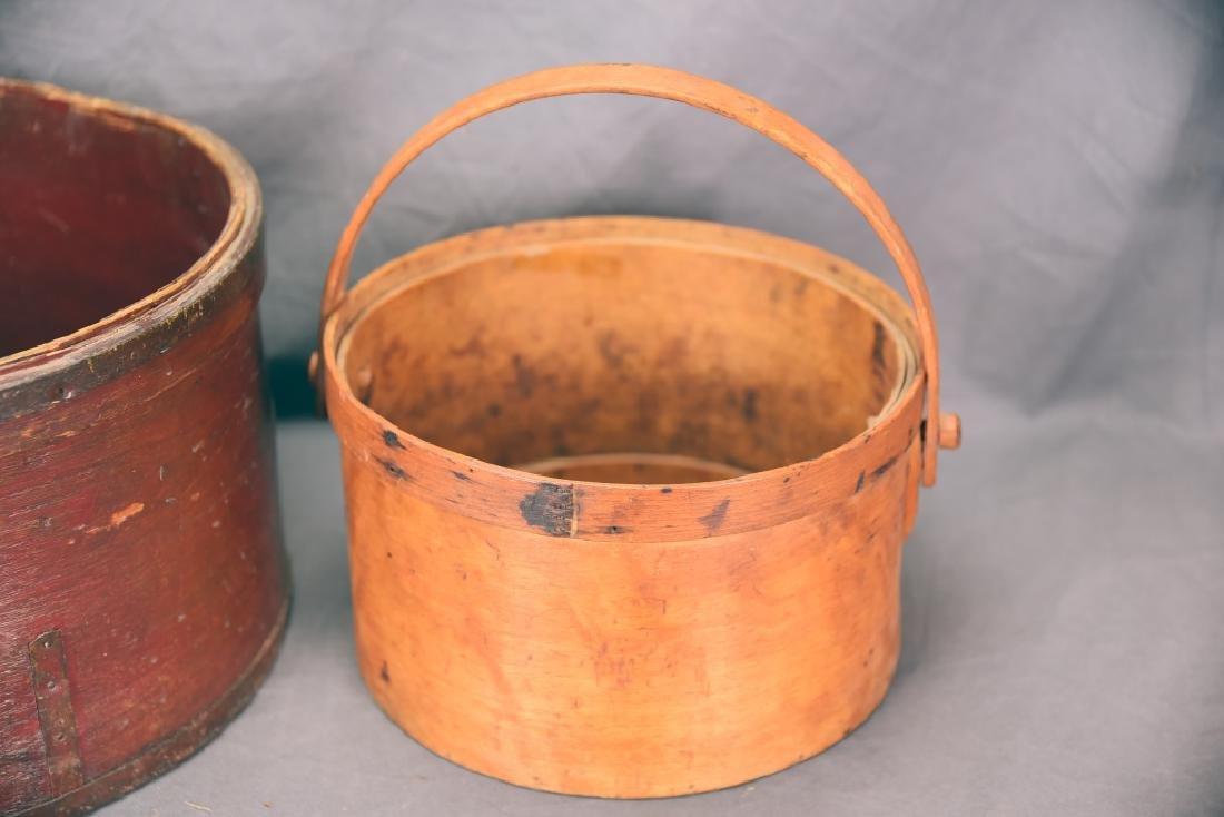 2 Round Bent Wood Boxes - 3