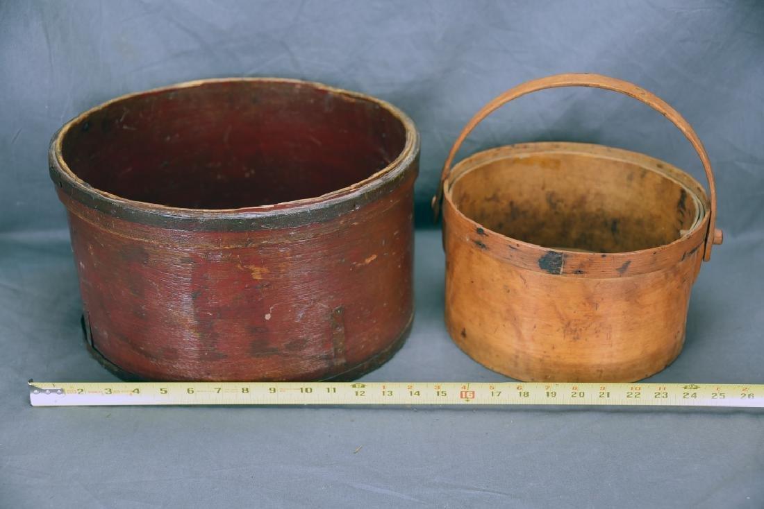 2 Round Bent Wood Boxes - 4