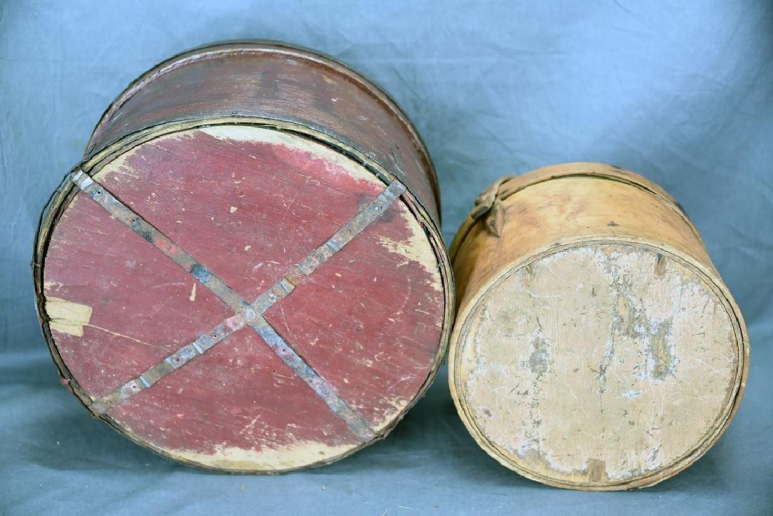 2 Round Bent Wood Boxes - 5