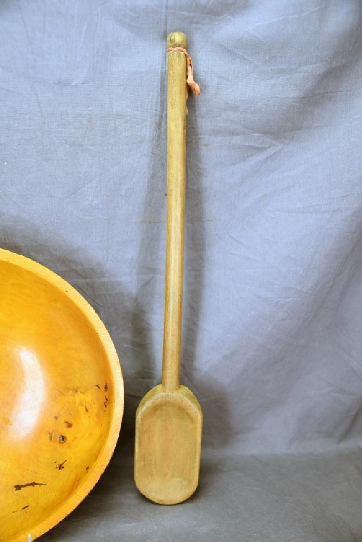 Wooden Ware Large Turned Maple Bowl, Mashers… - 7