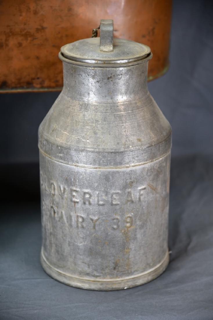 Copper Boiler, Cloverleaf Dairy Cream Can - 2