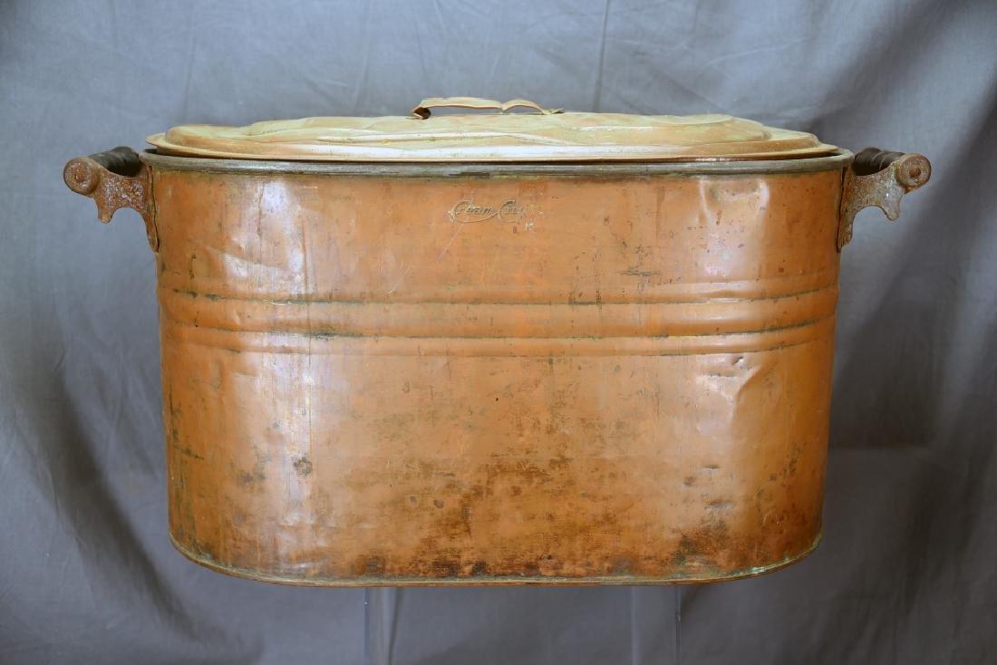 Copper Boiler, Cloverleaf Dairy Cream Can - 6