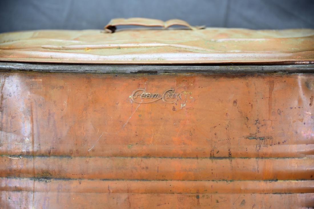 Copper Boiler, Cloverleaf Dairy Cream Can - 7