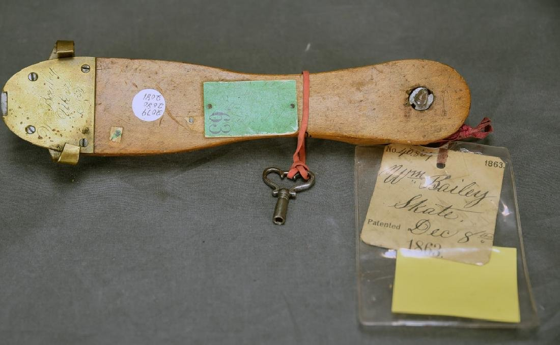 Original Patent Model Ice Skate Dated 1863
