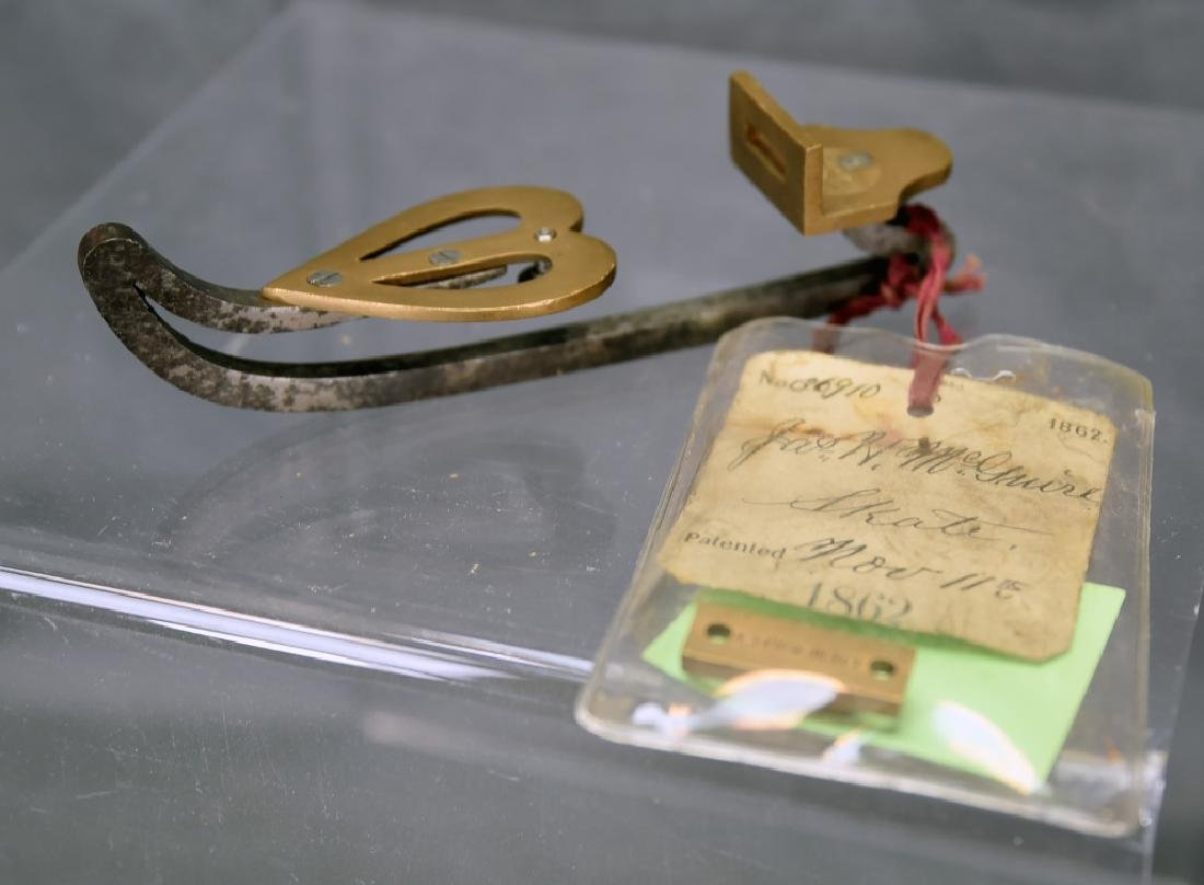 Original Patent Jas. H McGuire Ice Skate
