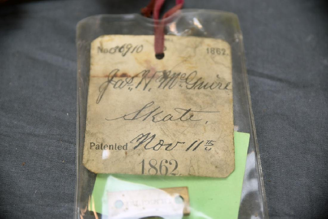 Original Patent Jas. H McGuire Ice Skate - 2