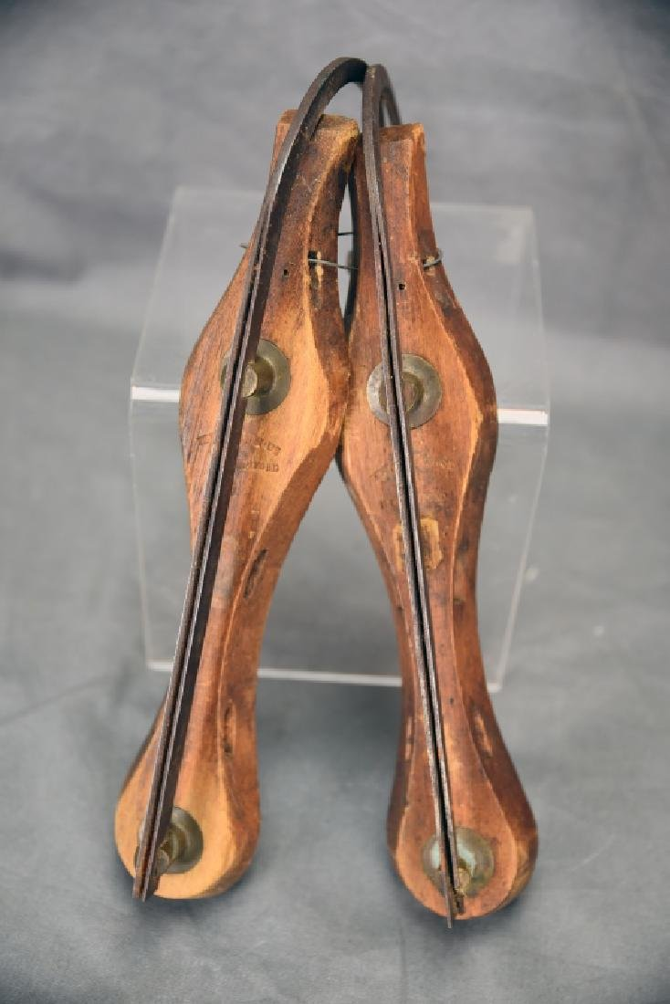 Antique Ice Skates Hand Wrought Curled Tip - 5