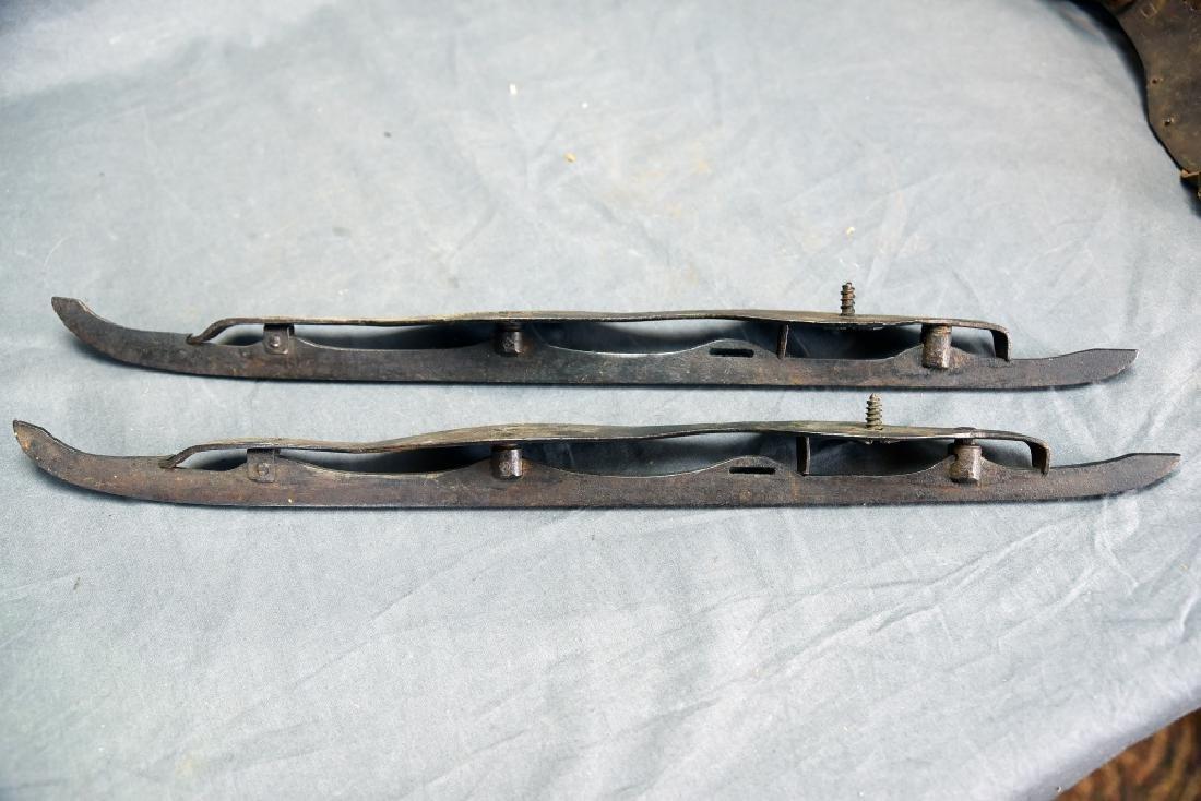 2 Pair 19th C Iron Ice Skates - 2