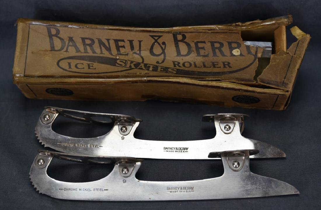 Antique Barney & Berry Ice Skates with Box