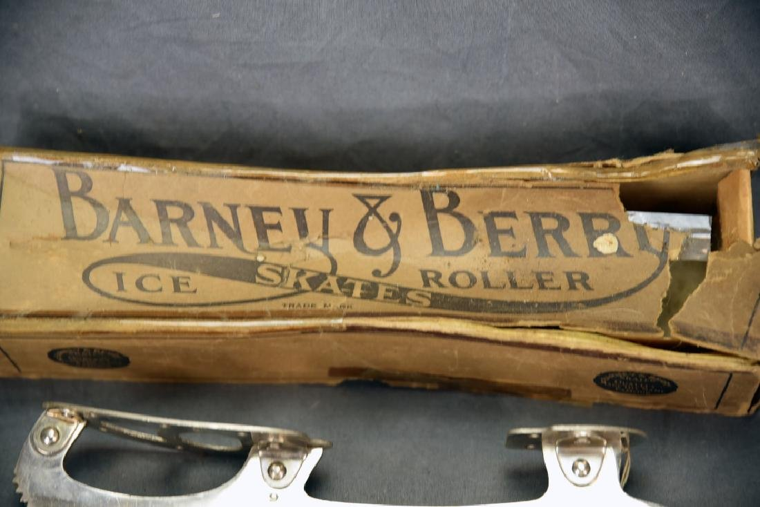 Antique Barney & Berry Ice Skates with Box - 2