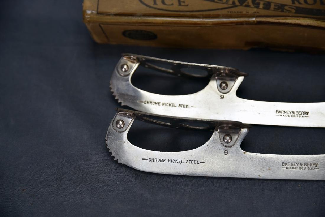 Antique Barney & Berry Ice Skates with Box - 3