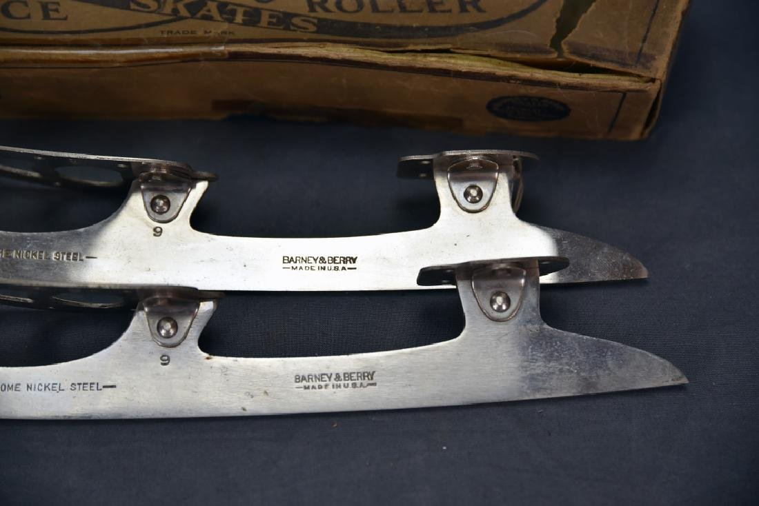 Antique Barney & Berry Ice Skates with Box - 4