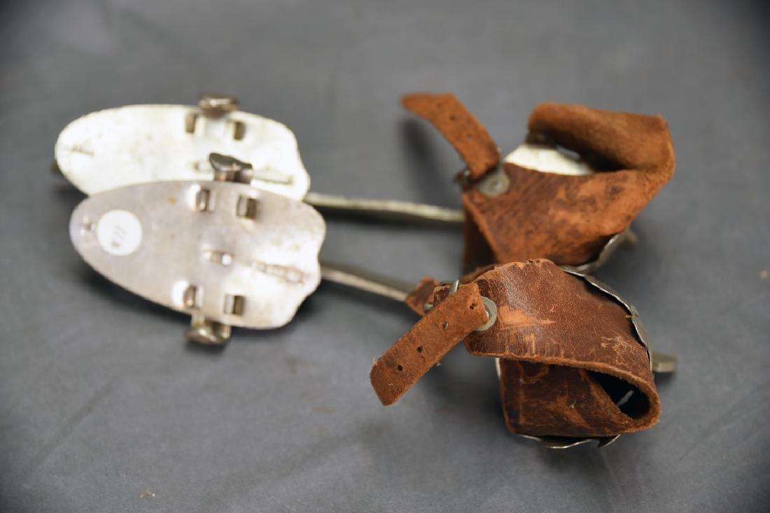 3 Pairs Vintage Barney & Berry Clamp on Ice Skates - 10