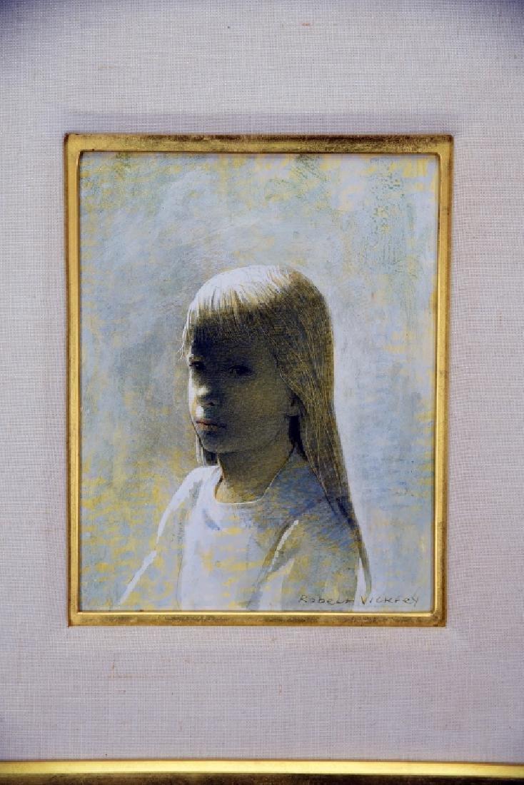 Robert Vickery Egg Tempera Girl's Head 2 Study - 2