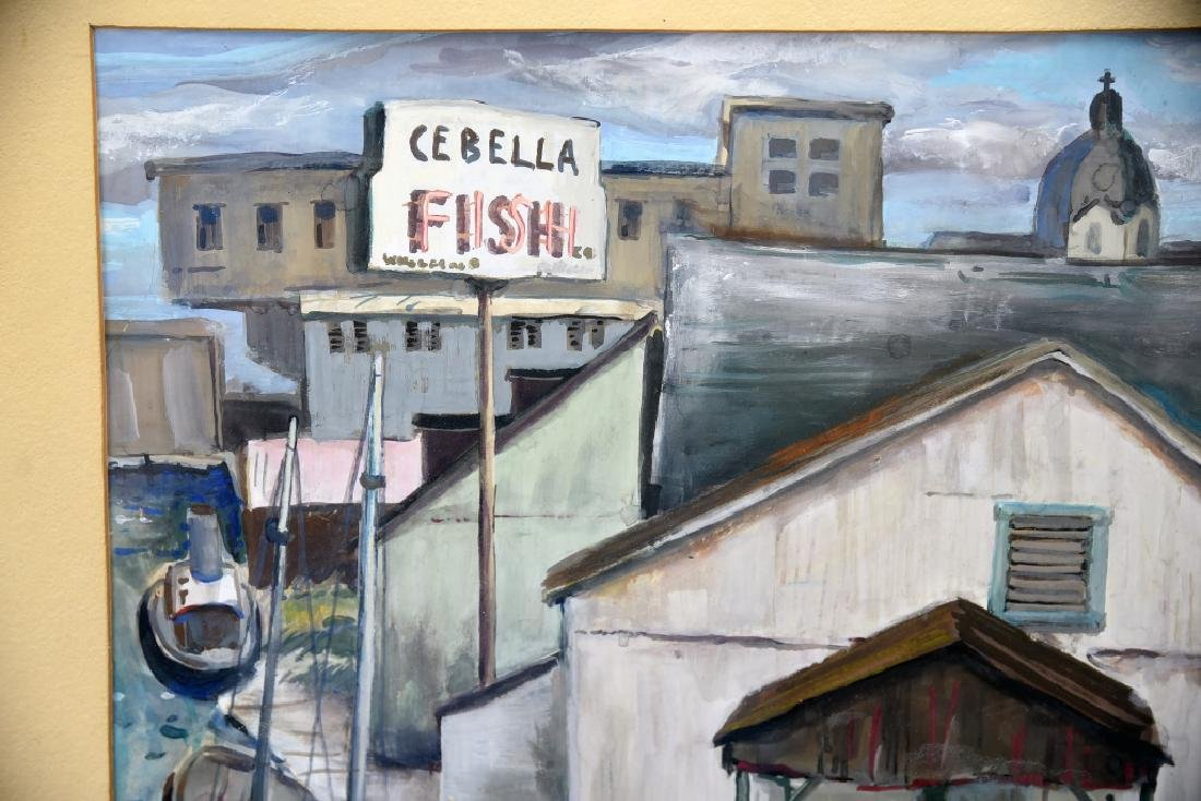Fred Zimmer Fish Docks Watercolor - 5