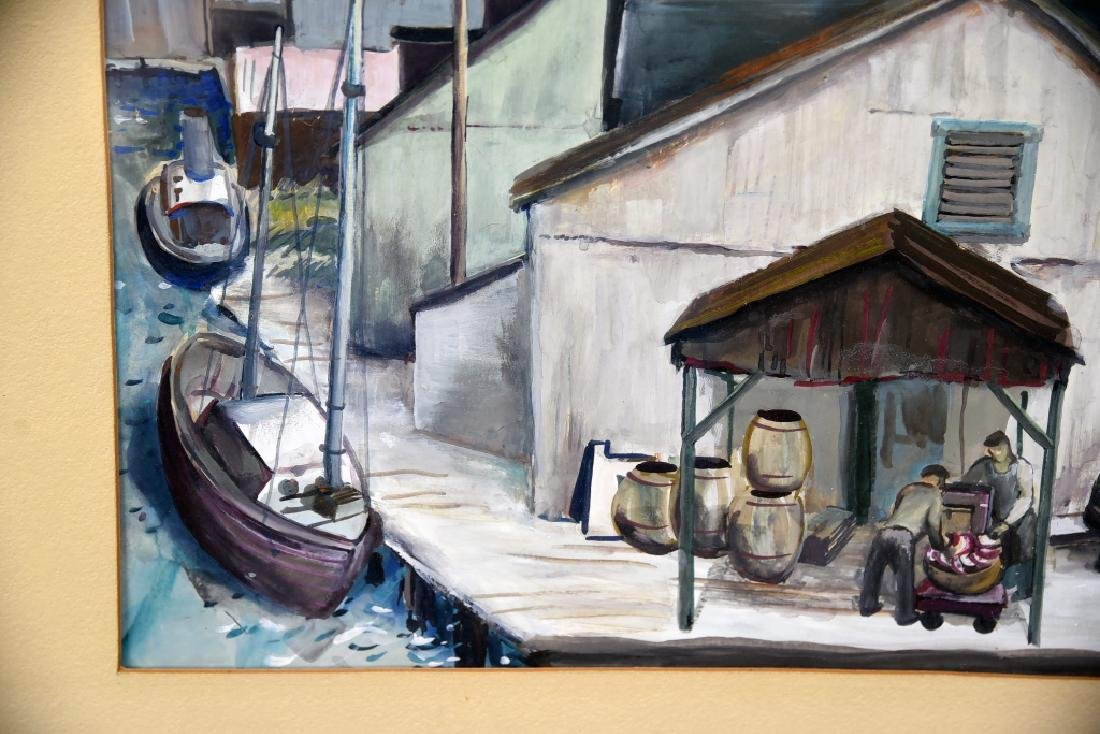 Fred Zimmer Fish Docks Watercolor - 6