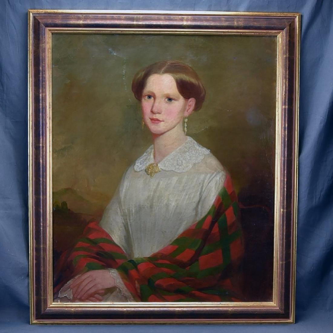 19th Century Oil on Canvas Portrait of a Woman