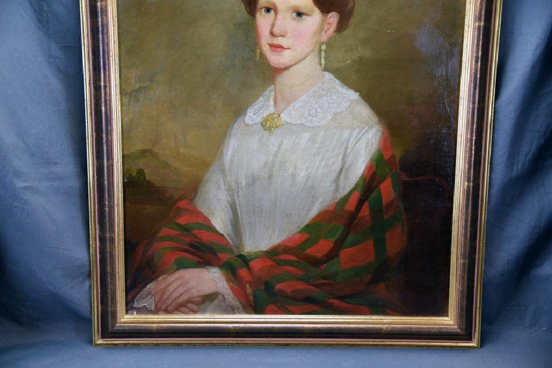 19th Century Oil on Canvas Portrait of a Woman - 3