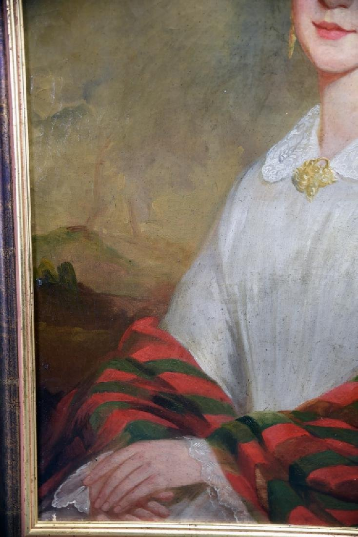 19th Century Oil on Canvas Portrait of a Woman - 6