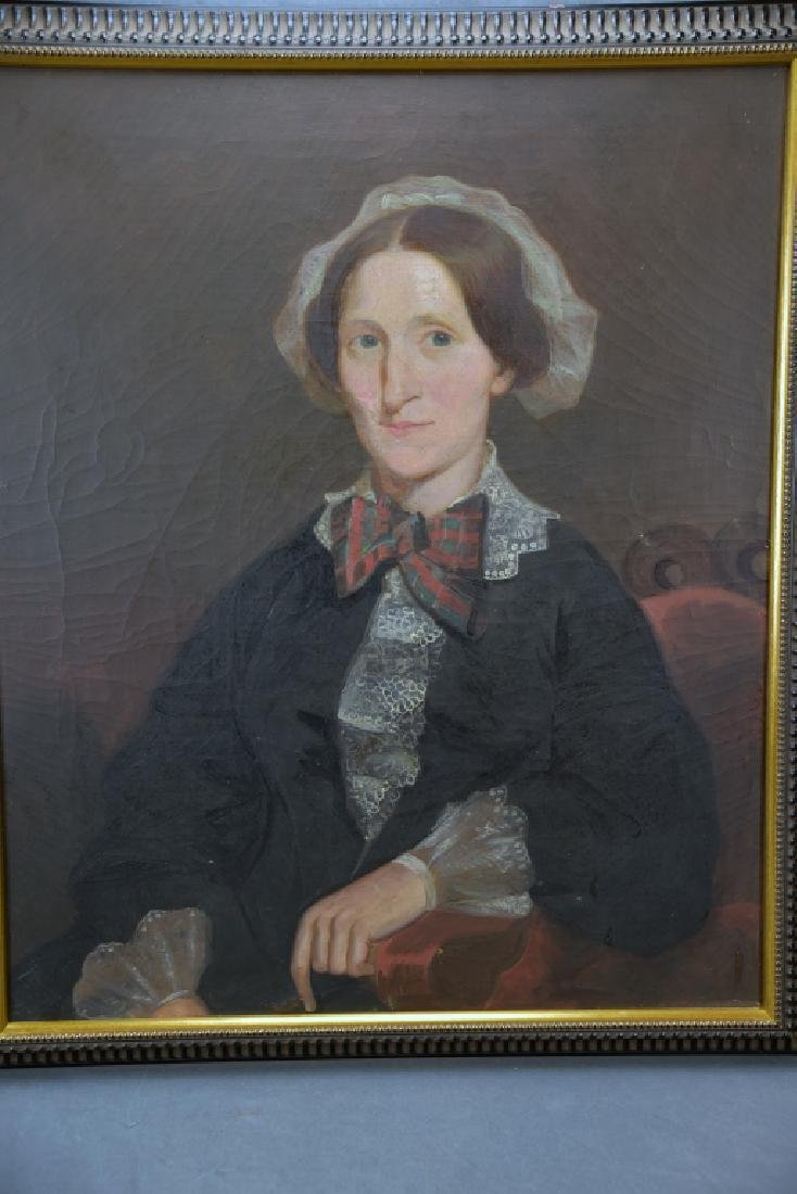 19th Century Oil on Canvas Portrait of a Woman - 2
