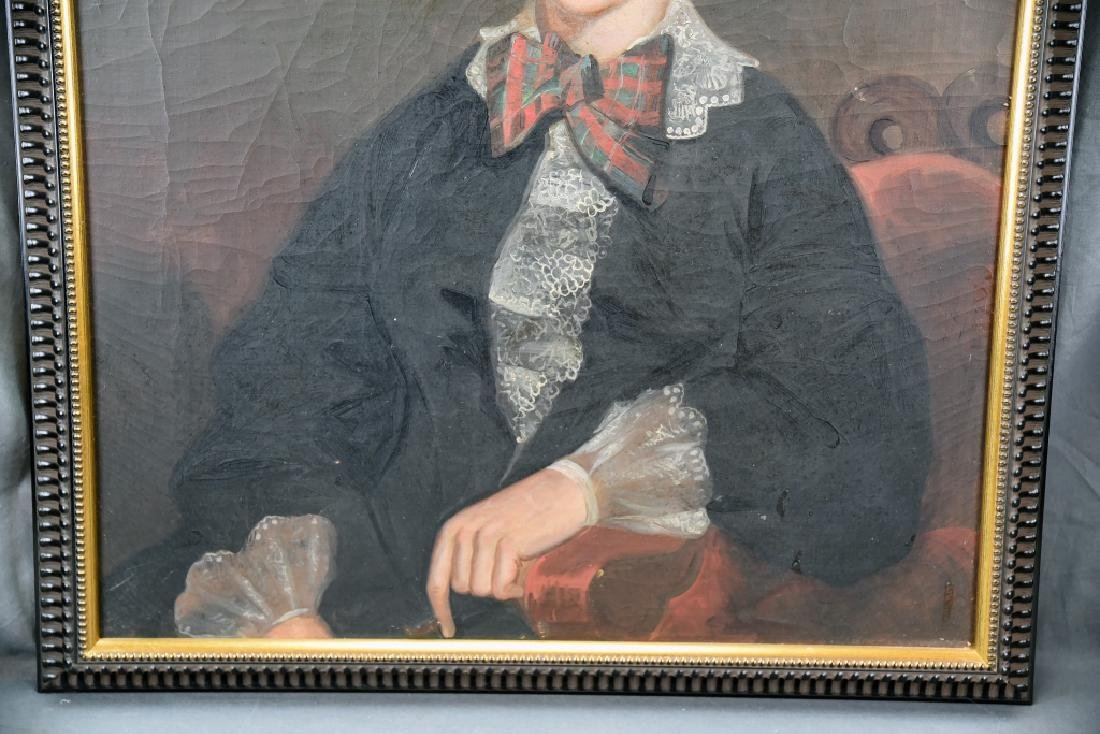 19th Century Oil on Canvas Portrait of a Woman - 5
