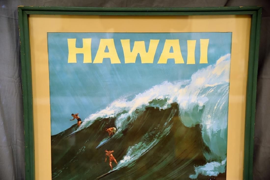 Vintage Chas. Allen Surfing Hawaii Travel Poster - 2