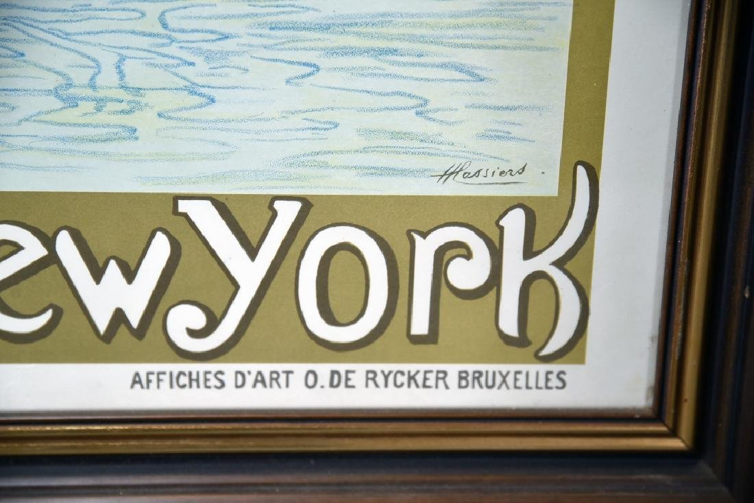 Vintage Art Nouveau Red Star Line Poster - 7