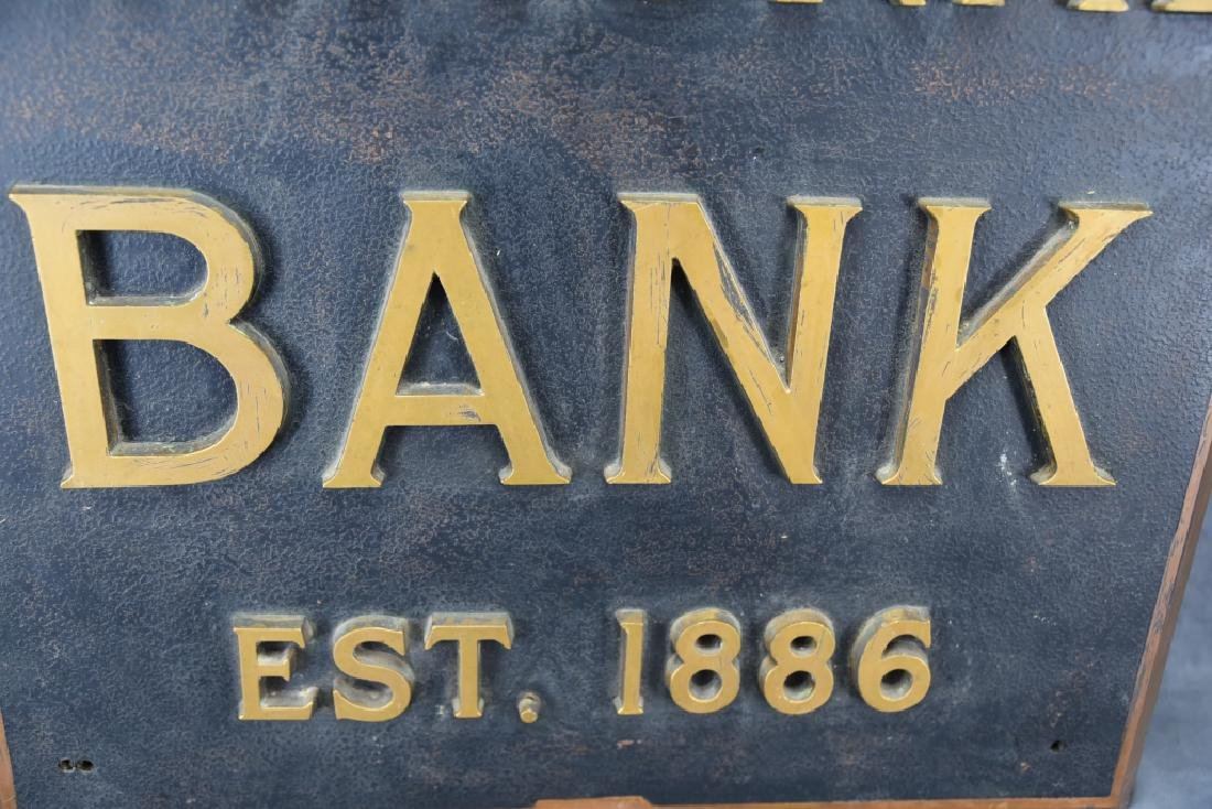 City National Bank Sign, Bronze Letters - 10