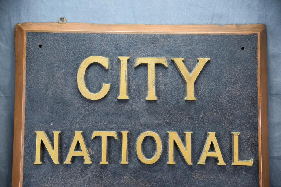 City National Bank Sign, Bronze Letters - 2