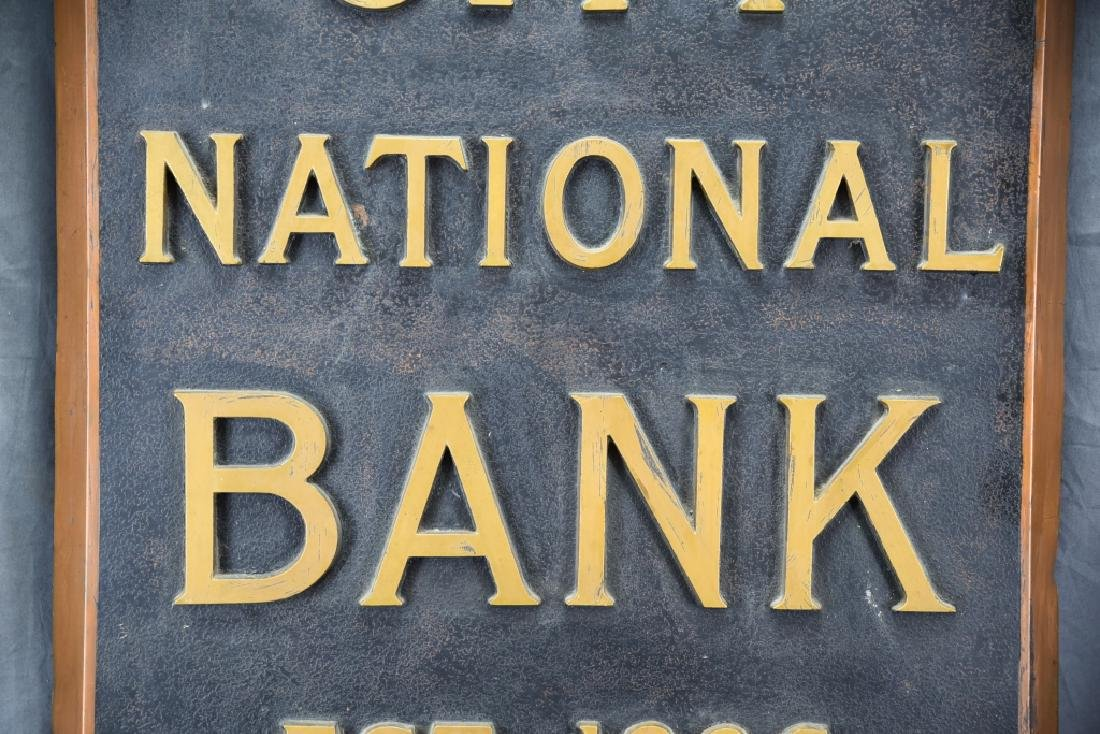 City National Bank Sign, Bronze Letters - 3