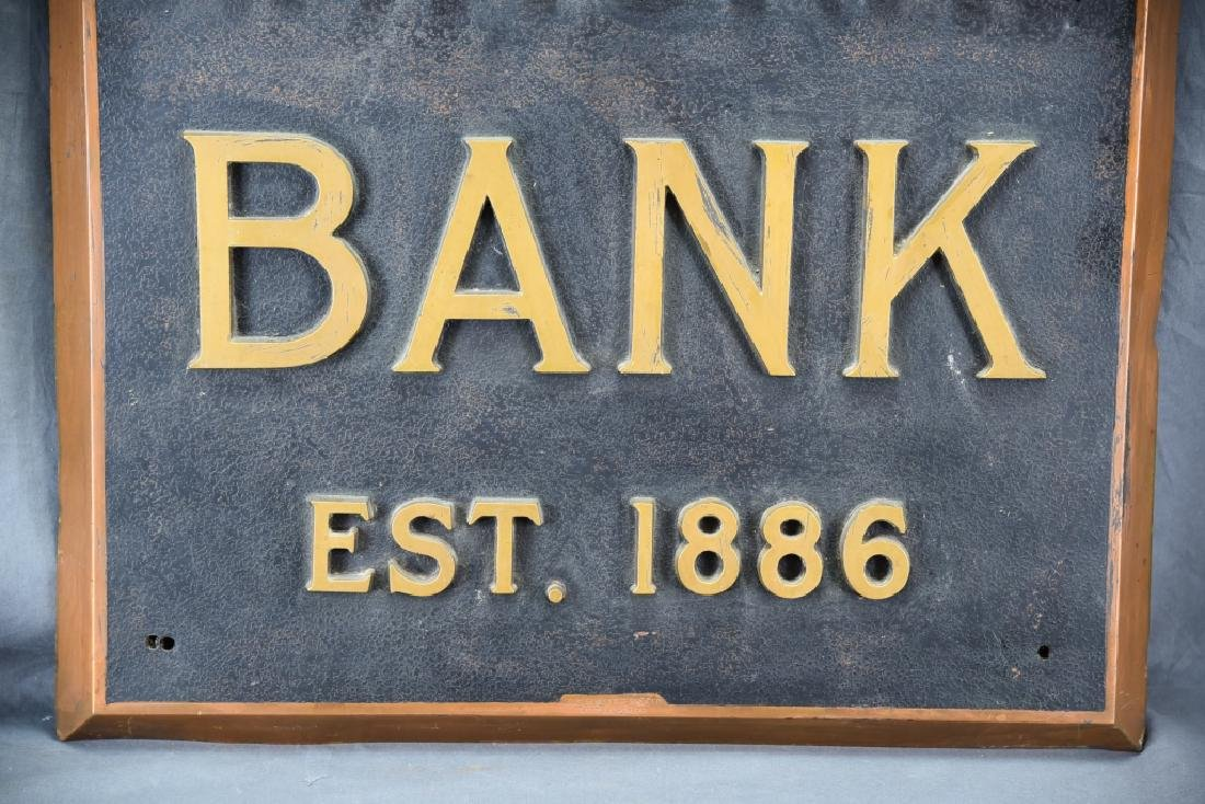 City National Bank Sign, Bronze Letters - 4