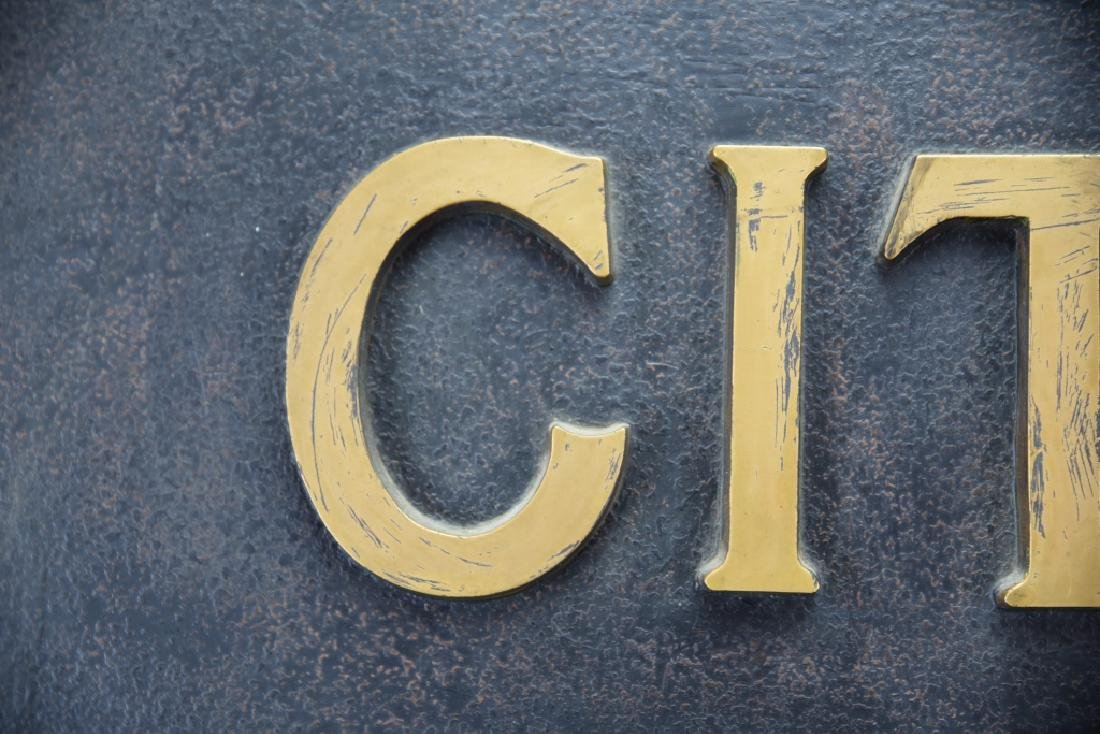 City National Bank Sign, Bronze Letters - 6