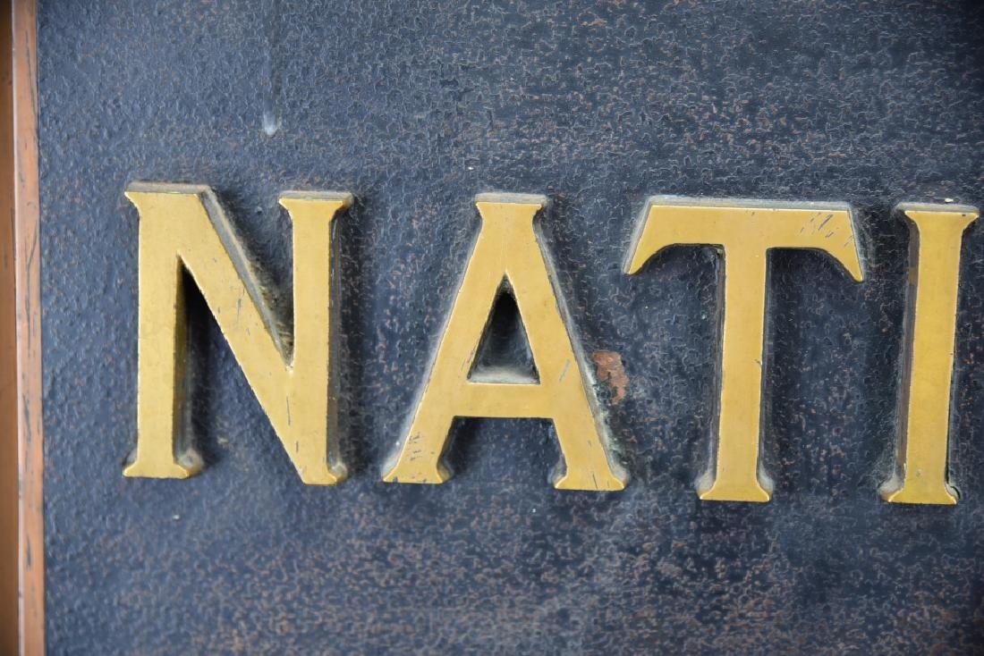 City National Bank Sign, Bronze Letters - 8
