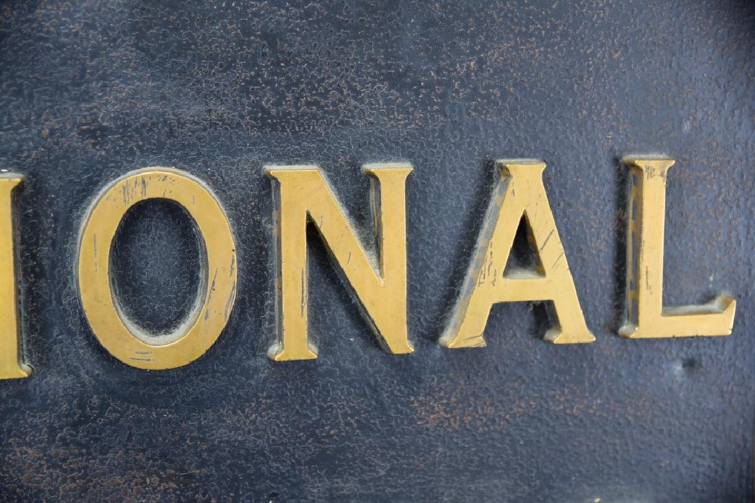 City National Bank Sign, Bronze Letters - 9