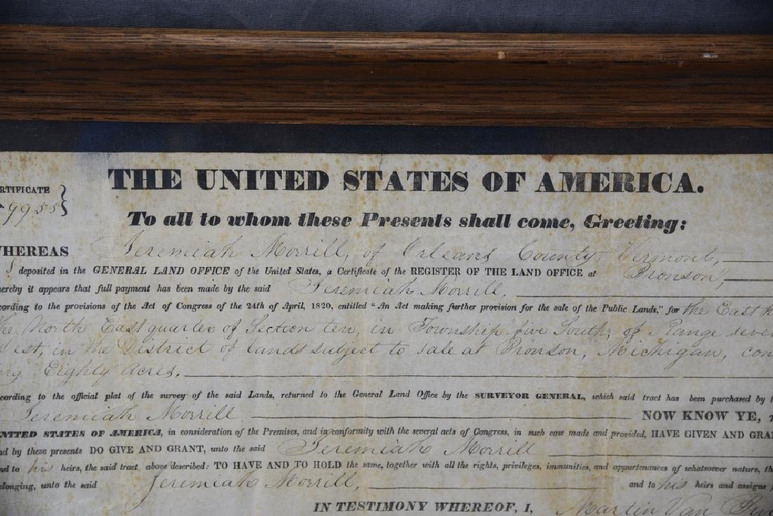 1839 Land Grant Orleans County Vermont - 2