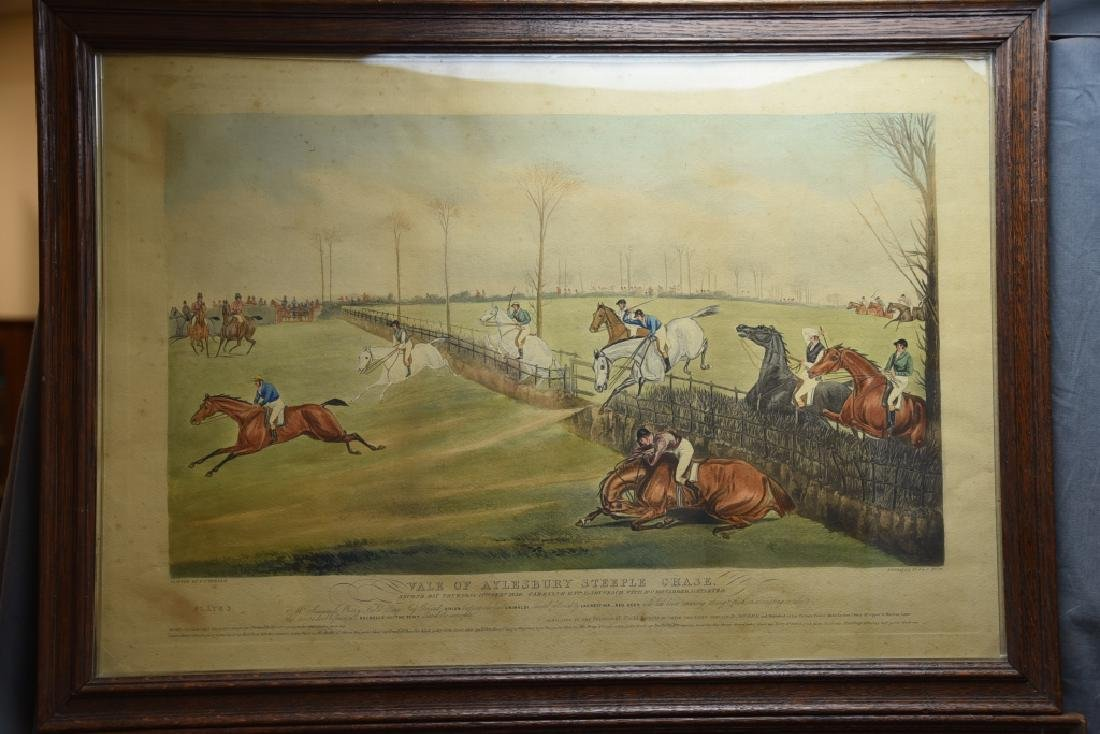 Set of 19th C Steeplechase Hand Colored Engravings - 2