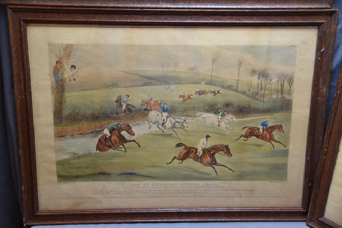 Set of 19th C Steeplechase Hand Colored Engravings - 4