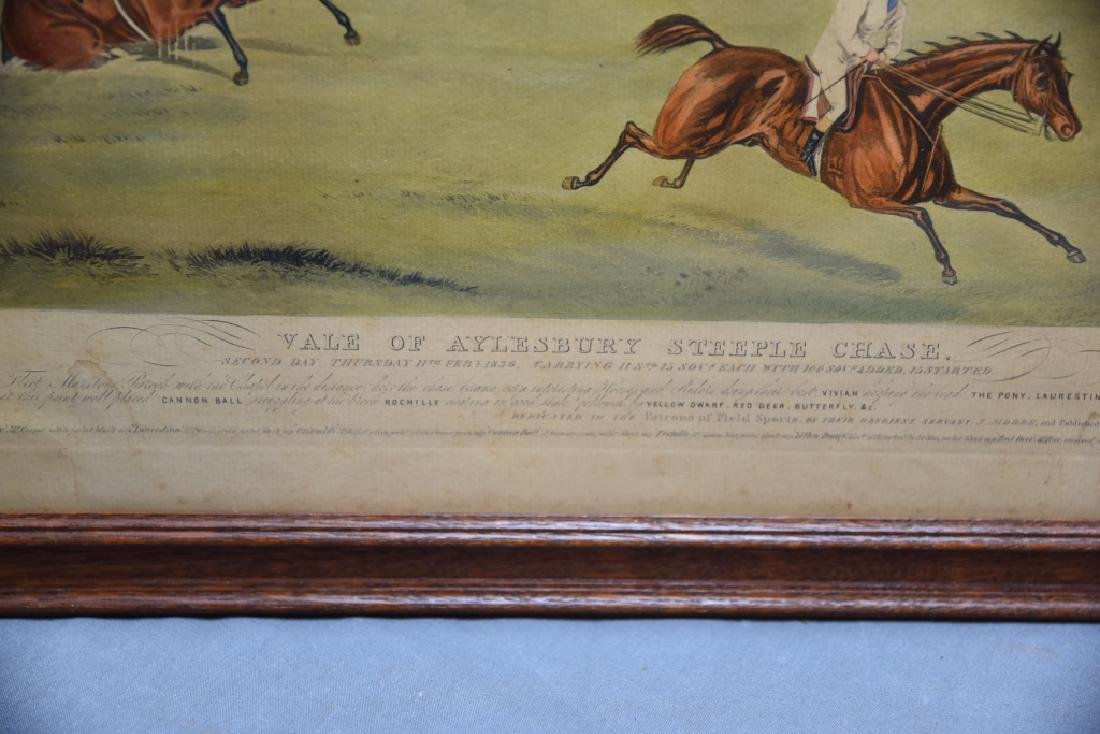 Set of 19th C Steeplechase Hand Colored Engravings - 5