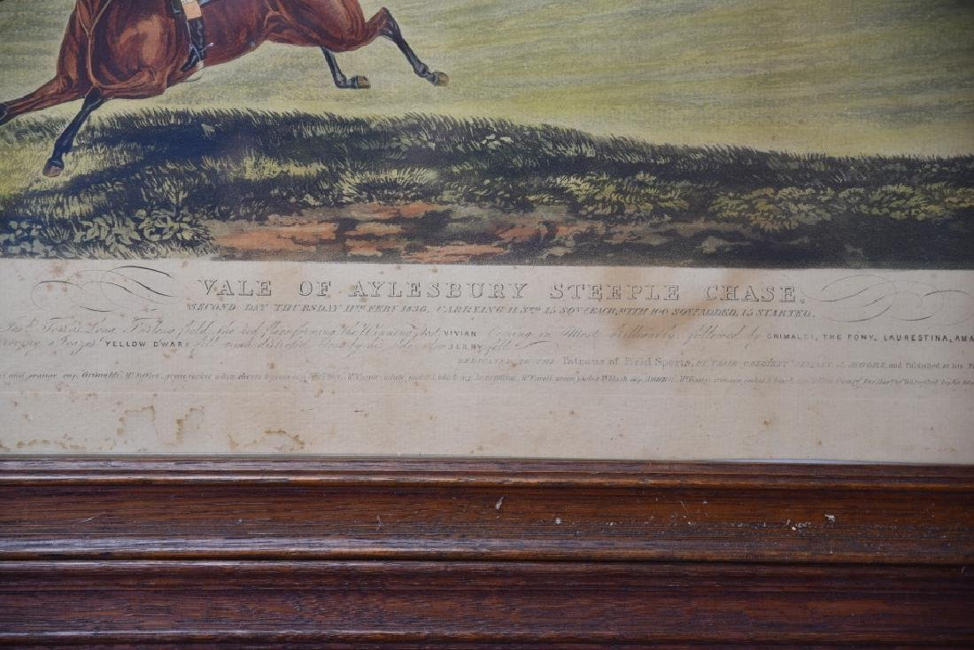 Set of 19th C Steeplechase Hand Colored Engravings - 7
