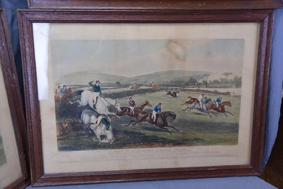 Set of 19th C Steeplechase Hand Colored Engravings - 8