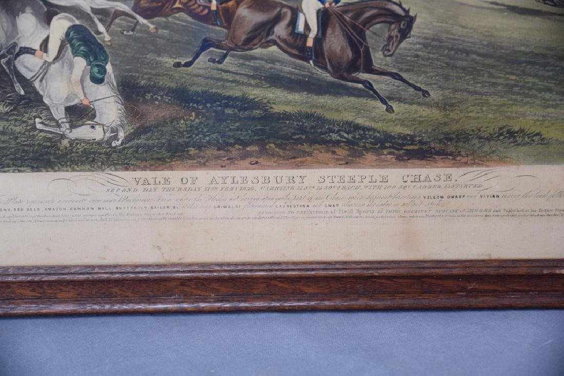 Set of 19th C Steeplechase Hand Colored Engravings - 9