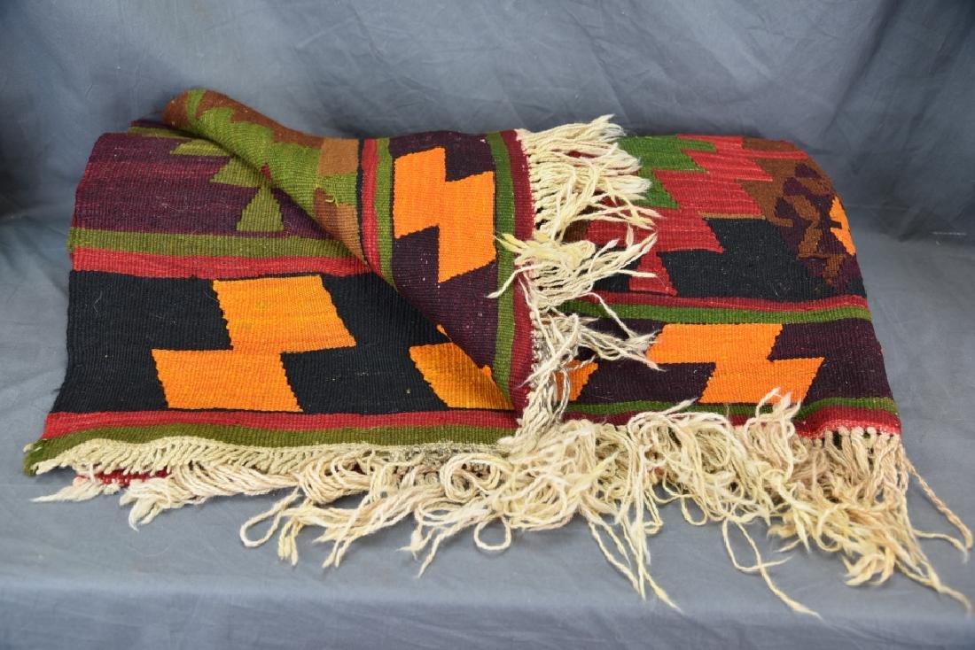 Large Colorful Geometric Handwoven Rug