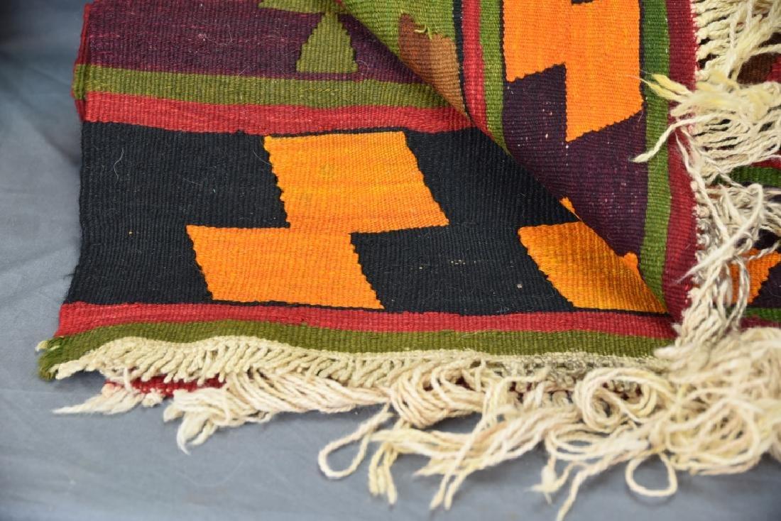 Large Colorful Geometric Handwoven Rug - 2