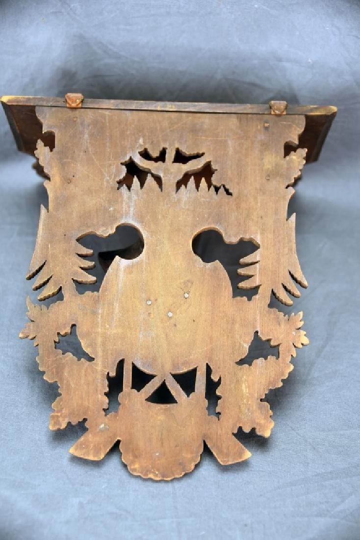 Black Forest Carved Shelf, Deers Head Decoration - 5
