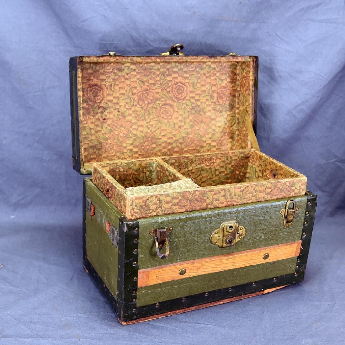 Antique Miniature Doll's Trunk Original Condition